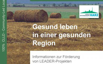 """Neuer Förder-Leitfaden der LAG """"Harz"""" erschienen"""