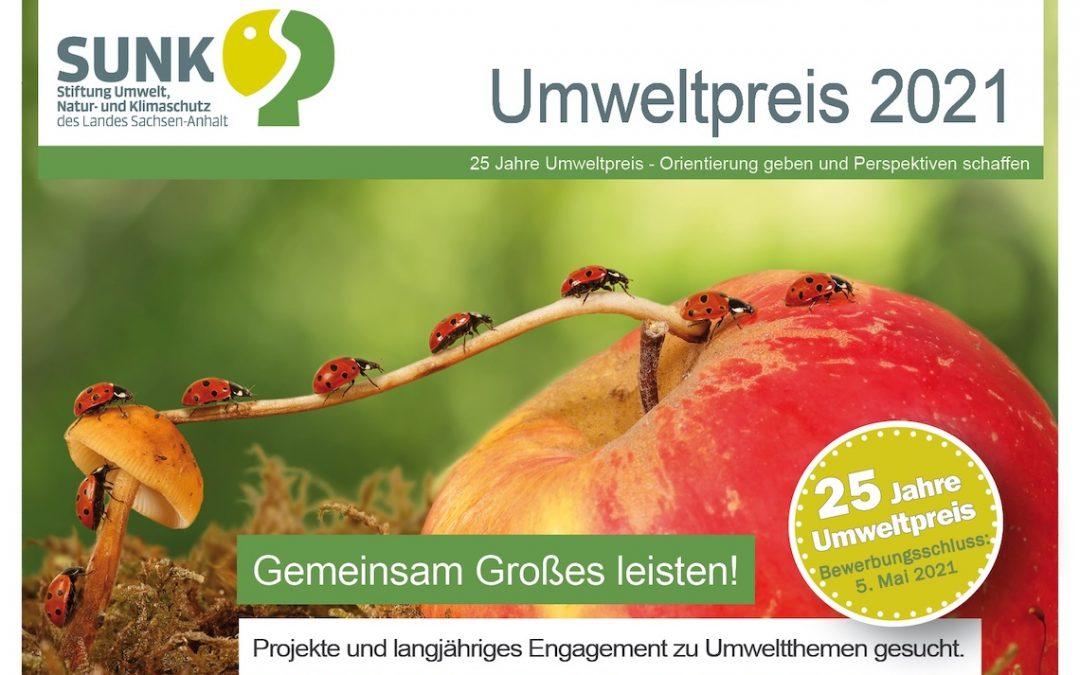 Umweltpreis 2021: Projekte zu Themen der Umwelt und Nachhaltigkeit in Sachsen-Anhalt gesucht